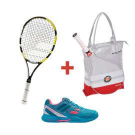 Набор Babolat PULSION SPORT 105 + CUD PULSION BPM CLAY W + TOTE BAG FO...