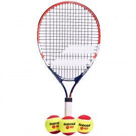 Теннисная ракетка детская 5-7 лет Babolat KIT RG/FO JR21 + 3 RED FELT ...