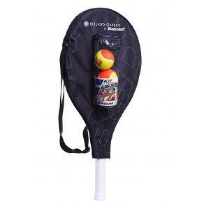 Теннисная ракетка детская 7-10 лет Babolat KIT RG/FO JR25 + 3 ORANGE BALLS 190008/209