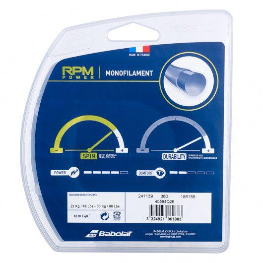 Теннисные струны для ракетки Babolat RPM POWER 12M (Комплект,12 метров) 241139/360