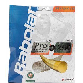 Теннисные струны для ракетки Babolat HYBRID PHT 130 + XCEL 130 (Комплект,12 метров) 281024/100
