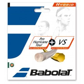 Теннисные струны для ракетки Babolat HYBRID PHT 125 + VS 130 (Комплект...