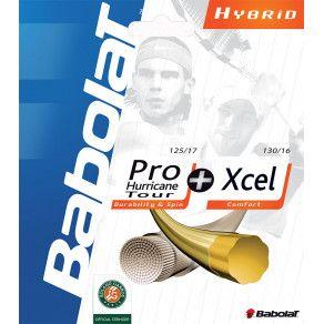 Теннисные струны для ракетки Babolat HYBRID PHT 130 + XCEL 130 (Комплект,12 метров) 281033/100