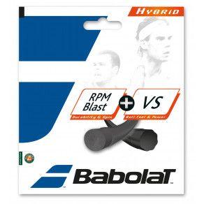 Теннисные струны для ракетки Babolat HYBRID VS 130 + RPM 125 (Комплект,12 метров) 281034/105