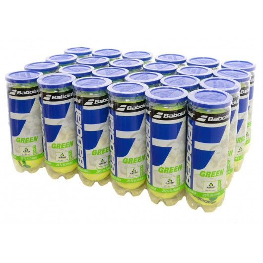 Мячи теннисные Babolat GREEN X3 (Ящик 24 банок) 501066/113Y