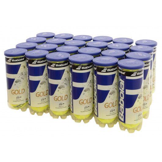 Мячи теннисные Babolat GOLD X3 (Ящик 24 банок) 501043/113Y