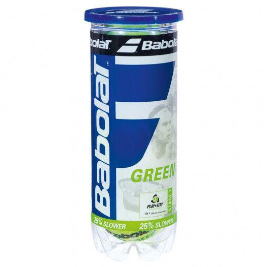 Мячи теннисные Babolat GREEN X3 (Банка ,3 штуки) 501066/113