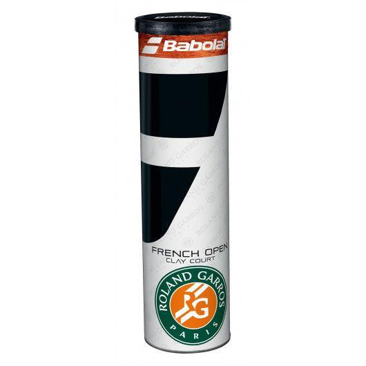 Мячи теннисные Babolat BALL RG/FO X4 (Банка ,4) 502034/113