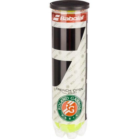 Мячи теннисные Babolat BALL RG/FOAC X4 (Банка ,4) 502036/113