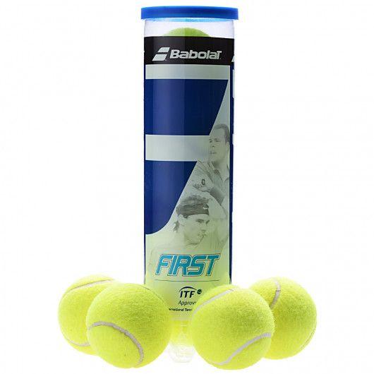 Мячи теннисные Babolat FIRST X4 (Банка ,4) 502056/113