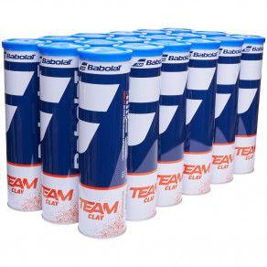 Мячи теннисные Babolat TEAM CLAY X4 (Ящик 18 банок) 502080/113Y