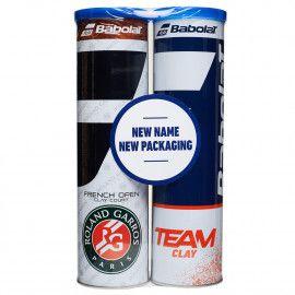 Мячи теннисные Babolat BIPACK RG CLAY TEAM CLAY X4 (2 б...