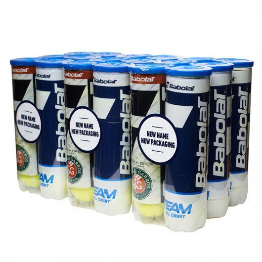 Мячи теннисные Babolat BIPACK RG/FO TEAM AC X4 (Ящик 18 банок) 502098/113Y