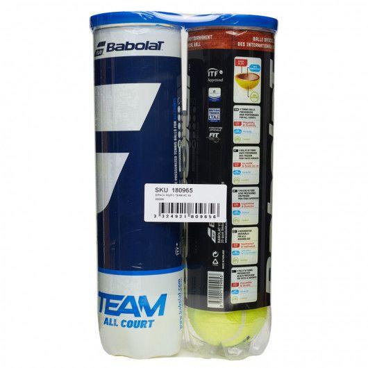 Мячи теннисные Babolat BIPACK RG/FO TEAM AC X4 (2 банки,4) 502098/113