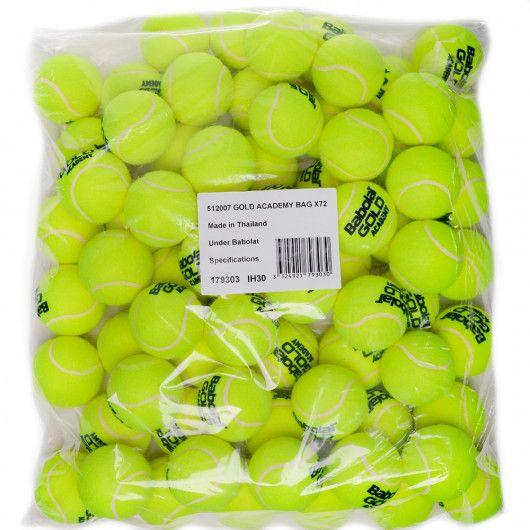 Мячи теннисные Babolat GOLD ACADEMY BAG X72 (Упаковка,72) 512007/113