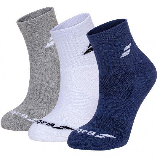 Носки спортивные Babolat QUARTER 3 PAIRS PACK (Упаковка,3 пары) 5UA1401/1033