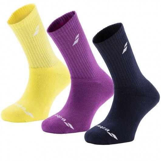 Носки спортивные Babolat 3 PAIRS PACK SOCKS (Упаковка,3 пары) 5US17371/243/M