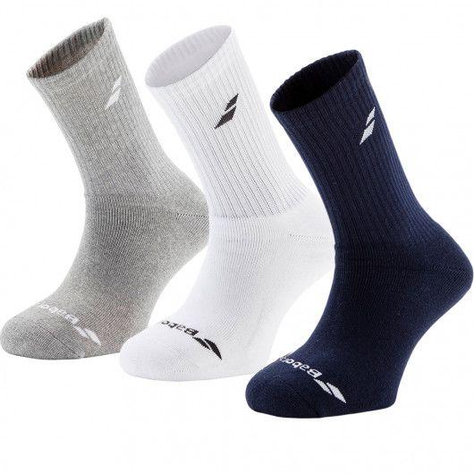 Носки спортивные Babolat 3 PAIRS PACK SOCKS (Упаковка,3 пары) 5US17371/249/W