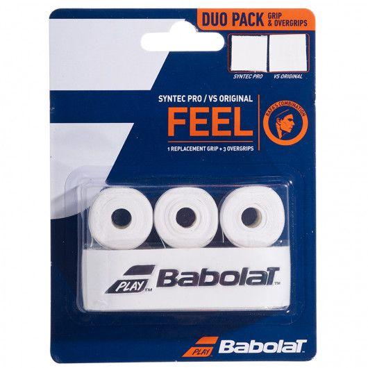 Ручка для ракетки Babolat SYNTEC PRO X1 + VS ORIGINAL X3 (1 штука + 3 намотки) 670068/101